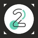 Emoticône de l'AISMT13 : chiffre 2 rond