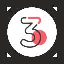 Emoticône de l'AISMT13 : chiffre 3 rond