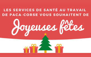 Les services de santé au travail de Paca-Corse vous souhaitent de Joyeuses Fêtes