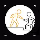 Emoticône de l'AISMT13 : escalier