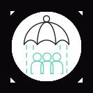 Emoticône de l'AISMT13 : parapluie