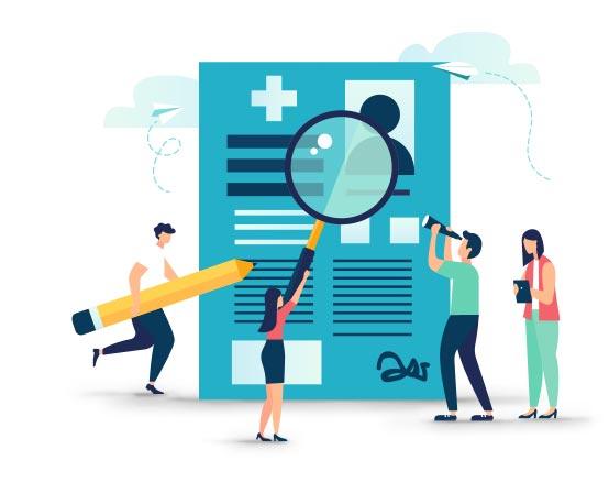 Illustration suivi de santé au travail / AISMT13